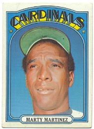 1972 Topps Baseball Cards      336     Marty Martinez
